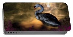Portable Battery Charger featuring the digital art Leda And The Swan by Rosa Cobos