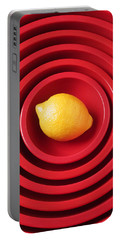 Lemon In Red Bowls Portable Battery Charger