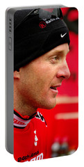Portable Battery Charger featuring the photograph Levi Leipheimer by Vicki Pelham