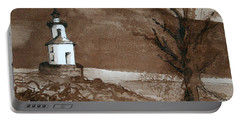 Lighthouse On Wisconsin Point Portable Battery Charger