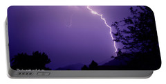 Lightning Over The Rogue Valley Portable Battery Charger by Mick Anderson