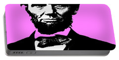 Portable Battery Charger featuring the digital art Lincoln by George Pedro