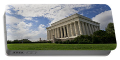 Lincoln Memorial And Sky Portable Battery Charger