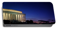 Lincoln Memorial At Sunset Portable Battery Charger