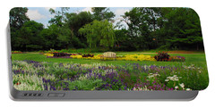 Portable Battery Charger featuring the photograph Lincoln Park Gardens by Lynn Bauer