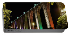 Lisbon Historic Aqueduct By Night Portable Battery Charger