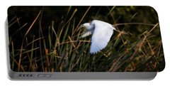 Portable Battery Charger featuring the photograph Little Blue Heron Before The Change To Blue by Steven Sparks