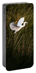 Portable Battery Charger featuring the photograph Little Blue Heron On Approach by Steven Sparks