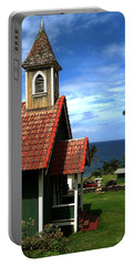 Little Green Church In Hawaii Portable Battery Charger by Dorothy Cunningham