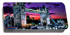 London Evening At Tower Bridge Portable Battery Charger