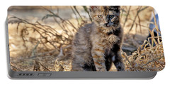 Lone Feral Kitten Portable Battery Charger