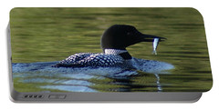 Loon With Minnow Portable Battery Charger