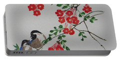 Portable Battery Charger featuring the painting Love by Sonali Gangane