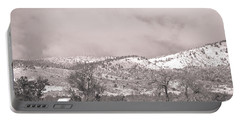 Low Clouds On The Colorado Rocky Mountain Foothills 3 Bw Portable Battery Charger