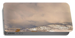 Low Winter Storm Clouds Colorado Rocky Mountain Foothills 4 Portable Battery Charger