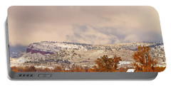 Low Winter Storm Clouds Colorado Rocky Mountain Foothills 6 Portable Battery Charger