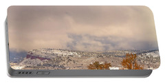 Low Winter Storm Clouds Colorado Rocky Mountain Foothills 7 Portable Battery Charger