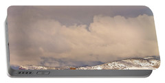 Low Winter Storm Clouds Colorado Rocky Mountain Foothills 8 Portable Battery Charger