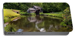 Mabry Mill And Pond Portable Battery Charger