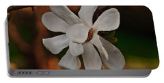 Portable Battery Charger featuring the photograph Magnolia Bloom by Barbara McMahon