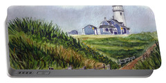 Portable Battery Charger featuring the painting Maine Light by Clara Sue Beym
