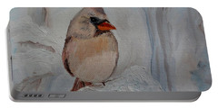 Portable Battery Charger featuring the painting Mama's On Her Way Home by Julie Brugh Riffey