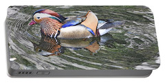 Portable Battery Charger featuring the photograph Mandarin Duck  by Lydia Holly