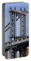 Portable Battery Charger featuring the photograph Manhattan Bridge3 by Zawhaus Photography