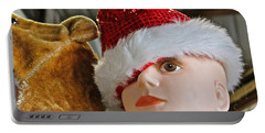 Portable Battery Charger featuring the photograph Manniquin Santa 2 by Bill Owen