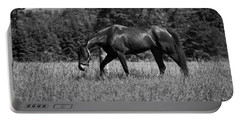 Portable Battery Charger featuring the photograph Mare In Field by Davandra Cribbie