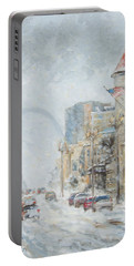 Market Street In Winter In St.louis Portable Battery Charger