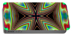 Portable Battery Charger featuring the digital art Medievil Cross by Mario Carini