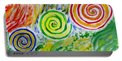 Portable Battery Charger featuring the painting Meditation by Sonali Gangane
