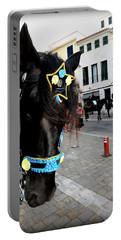 Portable Battery Charger featuring the photograph Menorca Horse 1 by Pedro Cardona