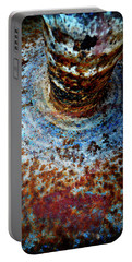 Portable Battery Charger featuring the photograph Metallic Fluid by Pedro Cardona