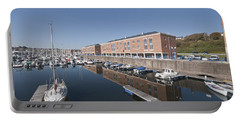 Portable Battery Charger featuring the photograph Milford Haven Marina 2 by Steve Purnell