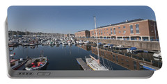 Portable Battery Charger featuring the photograph Milford Haven Marina 3 by Steve Purnell