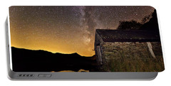 Portable Battery Charger featuring the photograph Milky Way Above The Old Boathouse by Beverly Cash