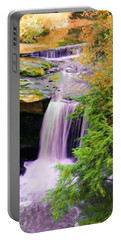Mill Creek Waterfall Portable Battery Charger by Michelle Joseph-Long