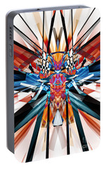 Portable Battery Charger featuring the digital art Mirror Image Abstract by Phil Perkins