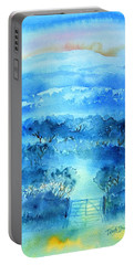 Misty Morning  Ireland  Portable Battery Charger by Trudi Doyle