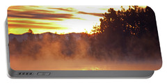 Portable Battery Charger featuring the photograph Misty Sunrise by Tikvah's Hope