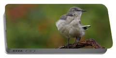 Mocking Bird Perched In The Wind Portable Battery Charger by Daniel Reed