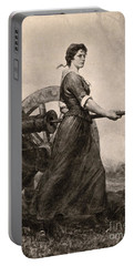 Molly Pitcher At The Battle Portable Battery Charger