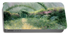 Portable Battery Charger featuring the painting Monet's Trellis IIi by Lynn Buettner