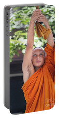 Portable Battery Charger featuring the photograph Monk In The Bell Tower #2 by Nola Lee Kelsey