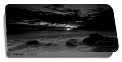 Monochrome Sunset  Portable Battery Charger