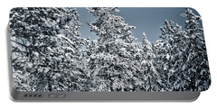 Portable Battery Charger featuring the photograph Montana Christmas by Janie Johnson