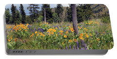 Montana Wildflowers Portable Battery Charger by Athena Mckinzie