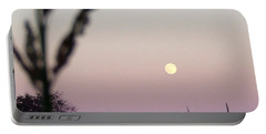Portable Battery Charger featuring the photograph Moon by Andrea Anderegg